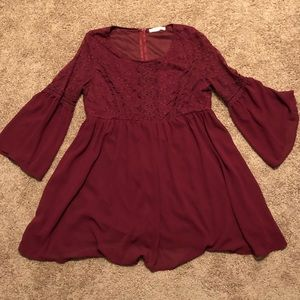 Dresses & Skirts - Red Lace Flower Child Dress